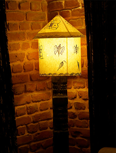 Traditional lamp at Hotel Heritage Bhaktapur